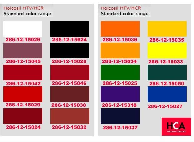 亚洲色囹il�(���_holcosil htv/hcr 添加量1%phr的部分标准色