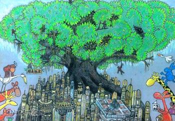 ( 环保儿童画>:未来都市)